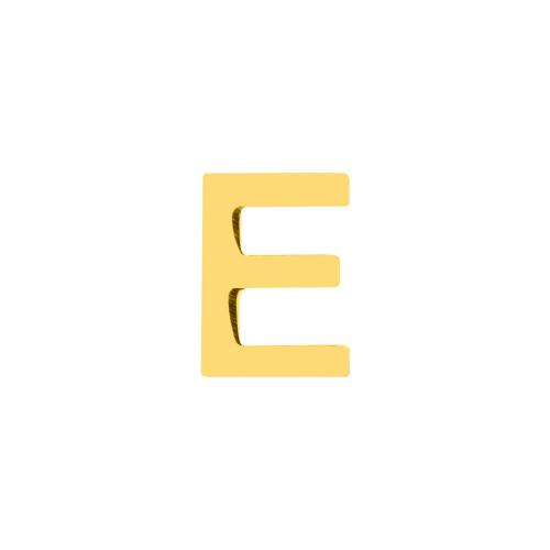14K Yellow gold single earring, monogram Ε.