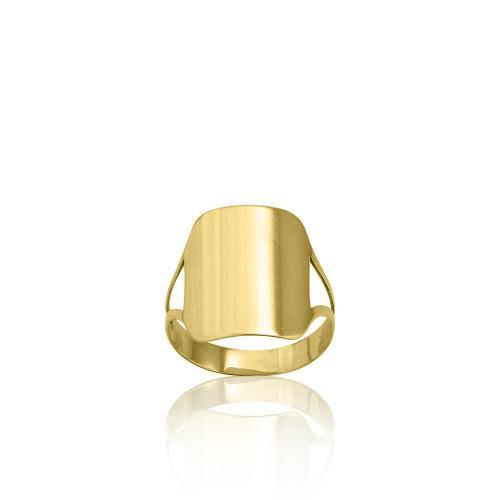 9K Yellow gold ring.