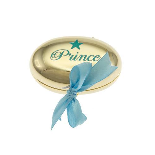 Παιδικό κουτί αναμνήσεων 'Prince', κίτρινο επιχρυσωμένο μέταλλο. Διαστάσεις: 5 x 3εκ.