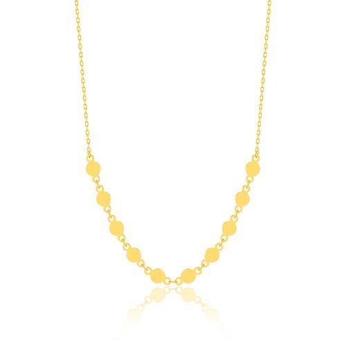 Κολιέ κίτρινο επιχρυσωμένο ασήμι 925, φλουράκια.