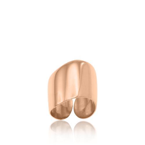 Δαχτυλίδι ροζ επιχρυσωμένο ασήμι 925.