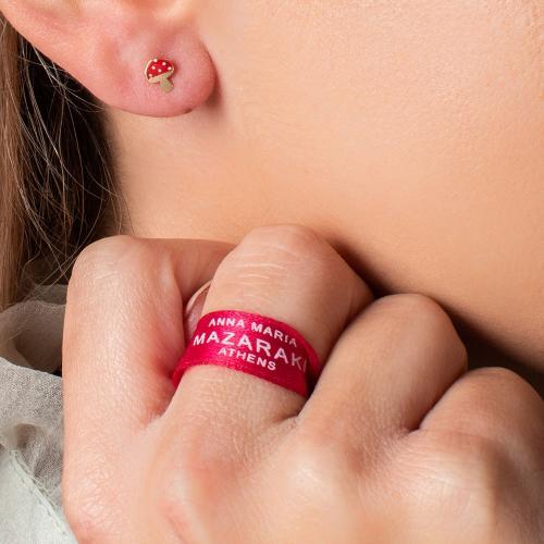 """14K Yellow gold children""""s earrings, mushroom."""