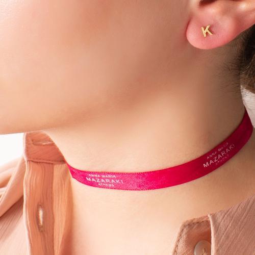 14K Yellow gold single earring, monogram Κ.