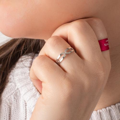 Δαχτυλίδι ασήμι 925, οβάλ κύκλοι.